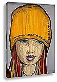 Kunstbruder Wandbild auf Leinwand - El Bocho Graffiti - Siedlungsbalkon - Pop Art Gemälde Kunstdruck Dekoration Loungebild (70x100cm)