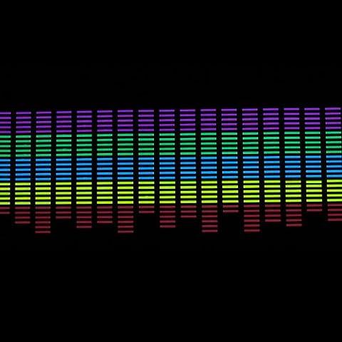 Kingzer Sound Musik Aktiviert Auto Aufkleber Equalizer LED bunt Licht