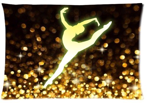 Gymnastikreifen Dancing Stern Kissenbezüge Zip 20x 30(Zwei Seiten) Custom Reißverschluss Kissenbezug Fällen