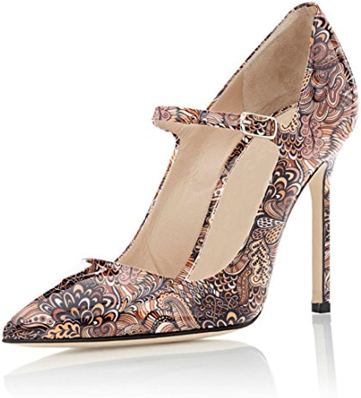 Soireelady - Scarpe col Tacco - Sexy Stiletto Tacco Scarpe - Mary Jane Tacco Alto - con Cinturino alla Caviglia | Sensazione piacevole  | Scolaro/Signora Scarpa