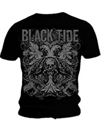 Black Tide eagle 'n' skull black t shirt