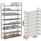WOLTU® SR0019-1 Schuhregal Schuhablage , XXL Schuhständer 8 Schicht , Ständer Regale für 40 Paare Schuhe , 92x30x154cm , beige