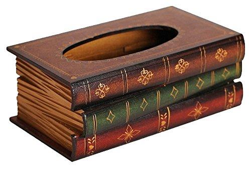 kimberleystore Creative Retro Holz Book geformte Taschentuchbox Serviette Halter Veranstalter (Kaffee) -