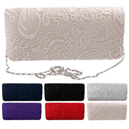 Blesiya 5 Silber 26 Kettentasche schwarz 4 Abend x für x12cm Hochzeit Clutch Damen Abendtasche Brauttasche Handtasche rqZrxwP