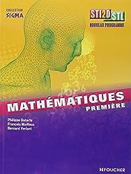Sigma Mathématiques 1re Bac STI2D - STL