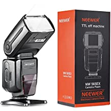 Neewer NW-565 EXC E-TTL Luz de flash Speedlight Esclavo con Difusor de Flash para Canon 5D II 7D, 30D, 40D, 50D, EOS 300D / EOS Digital Rebel, EOS 350D / EOS Kiss Digital N, EOS 400D / Digital Rebel Xti, EOS 1000D / EOS Rebel XS, EOS 500D / Digital Rebel T1i, EOS 550D / Digital Rebel T2i, EOS 600D / EOS Rebel T3i, EOS 700D / EOS Rebel T5i, EOS 100D / EOS Rebel SL1, EOS 1100D/ EOS Rebel T3 y todos otros modelos
