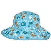 Baby Banz 7726 Banz 50+ UV Koruma Çift Taraflı Güneş Şapkası, Turkuaz