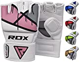RDX MMA Gloves Grappling Martial Arts Punching Bag Maya Hide Leather Mitts Sparring