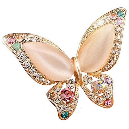 Unbekannt Elegante wunderschöne kleine Blumen Strass Kristall Brosche m. Anstecknadel