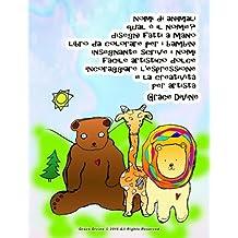 nomi di animali qual è il nome? disegni fatti a mano libro da colorare per i bambini insegnante scrive i nomi facile artistico dolce incoraggiare l'espressione e la creatività per artista Grace Divine