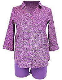 ANITA MATERNITY Umstands- und Still-Pyjamaoberteil Inja Umstandspyjama Schwangerschafts-Pyjama, Größe L, lila