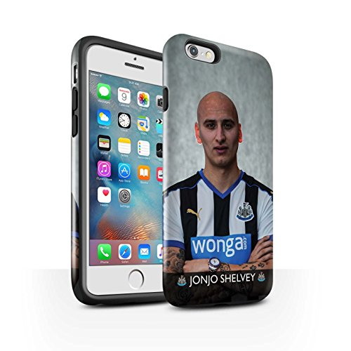 Offiziell Newcastle United FC Hülle / Glanz Harten Stoßfest Case für Apple iPhone 6S+/Plus / Pack 25pcs Muster / NUFC Fussballspieler 15/16 Kollektion Shelvey