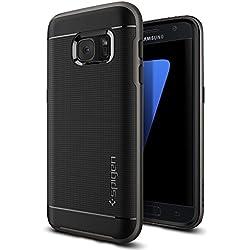 Coque Galaxy S7, Spigen [Neo Hybrid] PREMIUM BUMPER [Gunmetal] Bumper Style Premium Coque Slim Fit Dual Layer Protective Etui Pour Samsung Galaxy S7 (2016) - (555CS20141)
