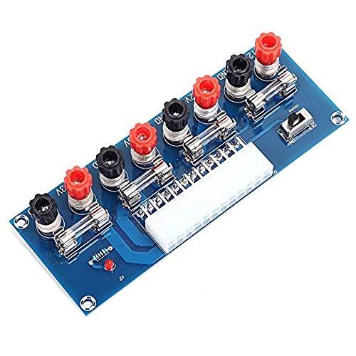 iHaospace Benchtop Power Board 24 Pin Computer ATX Power Supply Breakout Adapter Module 12V 5V 3.3V -
