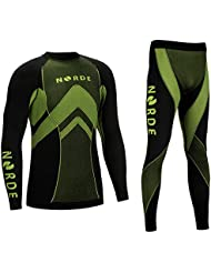 THERMOTECH NORDE Herren Funktionswäsche Thermoaktiv Atmungsaktiv Base Layer SET Outdoor Radsport Running