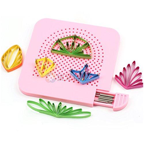 Binchil Die Quilter Grid Guide fuer Papier falten Bastelpapier Buettenpapier Handwerk Werkzeug DIY Papier Werkzeug Rosa -