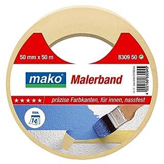 mako Maler-Abdeckband 80° C; gelb; ca. 19 mm x 50 m