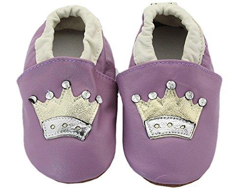 BONAMART ® Baby Junge Mädchen Schuhe Krabbelschuhe Kleinkinder Karikatur lila Crown