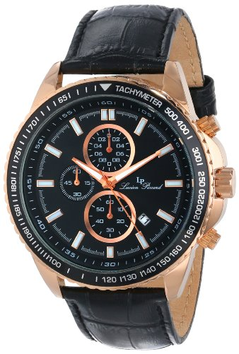 Lucien Piccard Men's LP-12552-RG-01-BK Cartagena Analog Display Japanese Quartz Black Watch
