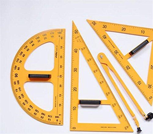 Individuelles exklusives Briefpapier-Präsentations 4 Stück Herrscher Set magnetische Tafel und Whiteboard Lehrmittel Set - gelb (Individuelles Briefpapier Für Lehrer)