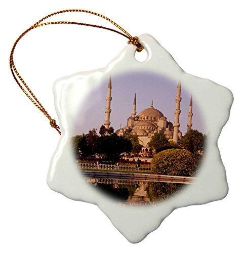 Christmas Gifts Türkei Istanbul Blau Moschee Blick von Reflecting Pool Morning Weihnachts Porzellan Decor Schneeflocke Ornament Home Dekorationen Aufhängen Crafts -