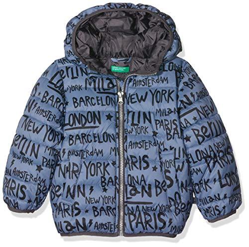United Colors of Benetton Jungen Jacket Mantel, Grau (Grigio Scuro/All/Over 76y), One Size (Herstellergröße: XX) -