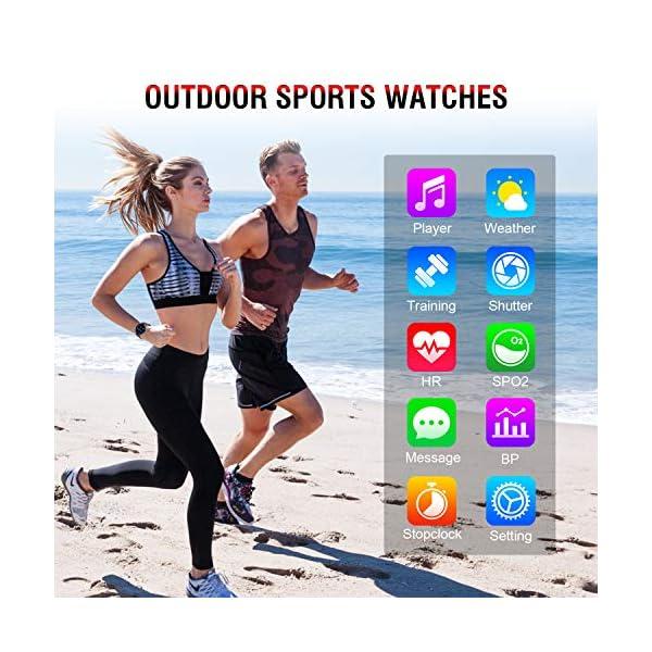 Smartwatch Deporte para Mujer Hombre con Pantalla Completa Táctil Monitores de Actividad Impermeable Outdoor Fitness… 6