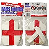 England Flag'Fans Hands' Covers - Pair - fit all vehicle mirror and handle bars