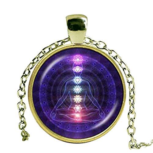 Chakra Yoga Halsketten Anhänger Bronze Kette Hinduismus Halskette