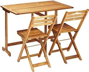 gartenm bel balkon set berlin 3 teilig aus akazienholz 2 klappst hlen und 1. Black Bedroom Furniture Sets. Home Design Ideas