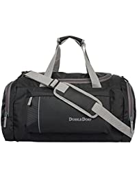 01428defc242 Dussle Dorf Polyester 40 Liters Black and Grey Travel Duffle bag