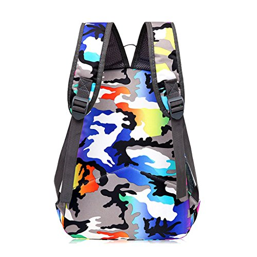 4538c6a5ddda4 ... Super Modern Unisex Nylon School Bag Children s Backpack Hiking Backpack  Cool Sports Backpack Blue Orange ...