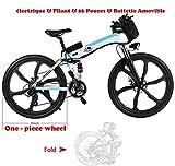 aceshin velo electrique adulte homme vtt pas cher velo pliant adulte roues 26 power grand batterie lithium bicyclette bécane
