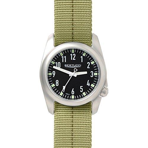 Bertucci 11074Green Band 40mm in acciaio INOX Ventara orologio da uomo