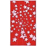 Toalla de playa terciopelo, 100 x 180 cm, algodón, diseño de estrellas