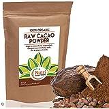 POUDRE DE CACAO CRU BIO DE NUTRI SUPERFOODS, chocolat noir de première qualité. Nutritif et riche en magnésium idéal pour la cuisine ou les barres énergétiques. 200g.