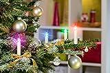 Premium LED Weihnachtskerzen/mit optionalem Farbwechsel/Fernbedienung/Batterien/Zubehör / IP44 / kabellose Weihnachtsbaumbeleuchtung (30er Set Elfenbein/Creme)