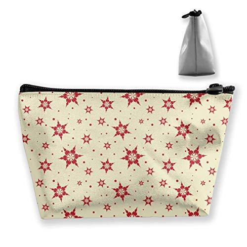 Nahtlose Fliesen-Schneeflocke-Hintergrund-trapezförmige Frauen-Kosmetik sackt Multi Funktions-Wäsche-Aufbewahrungstasche EIN