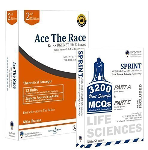 Ace The Race: Combo 1 CSIR-UGC NET Life Sciences ( Ace The Race & Sprint)  available at amazon for Rs.1199