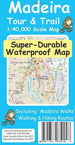 Madeira Tour & Trail Super-Durable Map por David Brawn