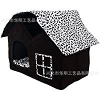 LQZ-Big Il Pet canile Villa notato due Teddy Casa Cat Kennel