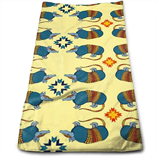 cher Strandtücher, Southwestern Armadillo On Yellow The Towels of Soft,Quick Dry and Absorbent. ()