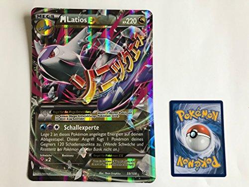 Pokemon Ex Karten Latios (übergroße holografische Karte MEGA LATIOS EX 59/108 220KP)