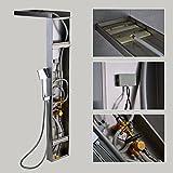 OBEEONR Thermostat Duschpaneel Duschset Edelstahl Duschsystem mit handbrause und Regendusche Duscharmatur Vergleich