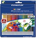 Staedtler Noris Club 144 50NC24 Erasable Colouring Pencils - Assorted Colours (Pack of 24)