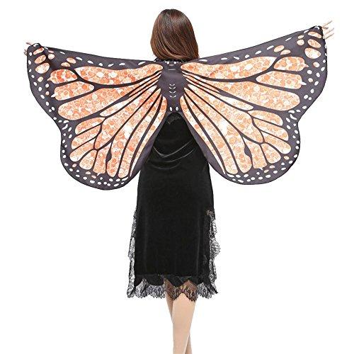 e Stoff Schmetterlingsflügel Schal Fee Damen Nymph Pixie Kostüm Zubehör (C) (Kostüme C)