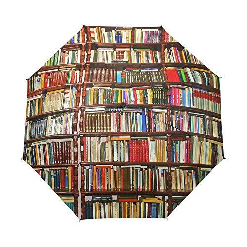 LZBDKM Neue Ankunft Regenschirm Bücherregal 3 Falten Winddicht Vollautomatische Regenschirm Regen Getriebe Sonnenschirm für Mann Kinder Freies Verschiffen -