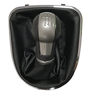 Maxiou Gear Shift Knob With Gaitor Leather Boot Cover For ALTEA LEON II 2 TOLEDO Car Stick Lever 5 6 speed (6-Speed)