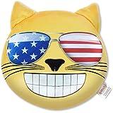 Emoji - Cojín Gato Gafas de Sol USA Oficial (PIW_USA_SUNGLASSES_CAT_EB)