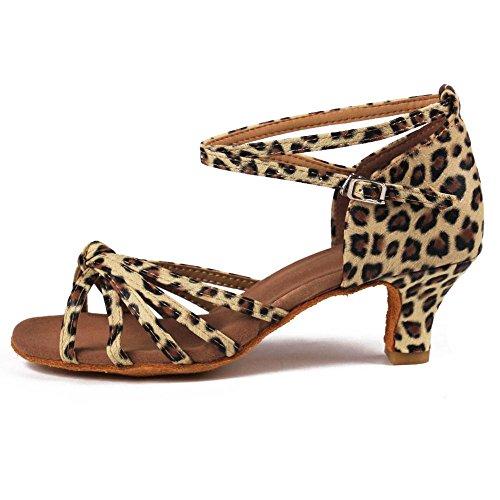 Yff Latin Chaussures De Danse Pour Femmes / Salle De Bal Tango 5cm / 7cm 11corlors 5cm Talons Léopard